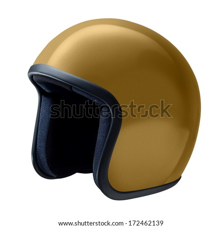 helmet, vintage or classic style isolated on white background