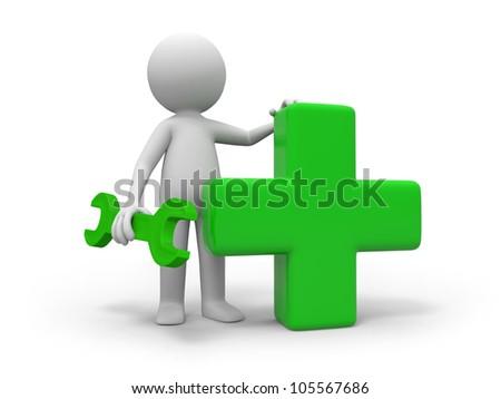 help/A mechanic and a cross