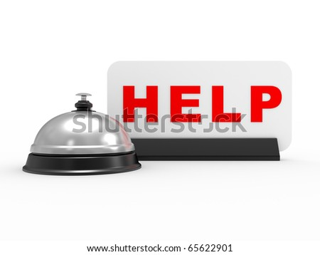 Help desk, isolated on a white background