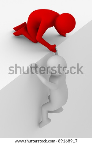 help in a difficult situation. 3D image