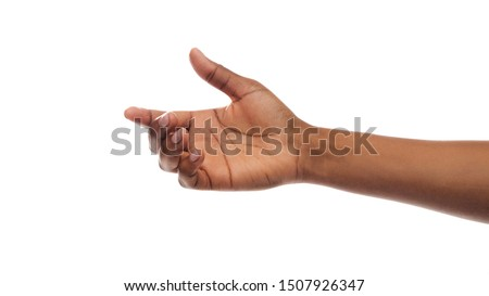 Helping hand. Black female extending arm to give or ask for support and care, panorama with copy space
