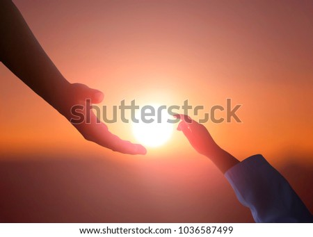 helping hand concept and international day of peace - Shutterstock ID 1036587499