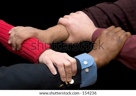 Helping Hands - black background