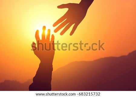 helping hands concept....