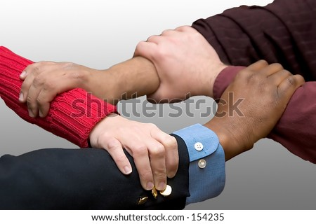 Helping Hands - gray gradient background
