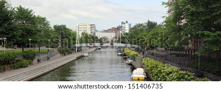 HELSINKI, FINLAND, CIRCA 2013 - The Ruoholahti district in the summer evening circa 2013 in Helsinki, Finland - Shutterstock ID 151406735
