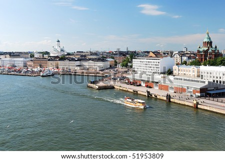 Helsinki, Finland. View from the Sea