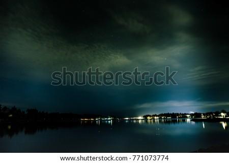 Helsinki night sky