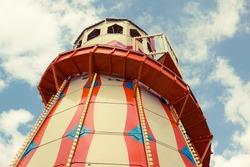 Helter Skelter children's funfair slide.