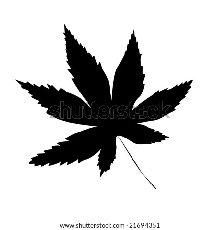 stock photo : Hemp or Marijuana Tattoo