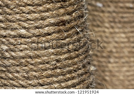 Hemp rope pattern background