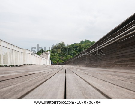 Henderson Waves Bridge Singapore with Undulating Curved Steel and Curved Wood Floor #1078786784
