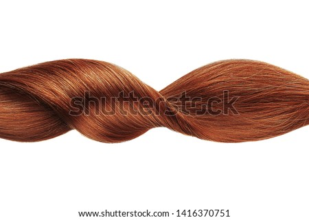 Henna shiny hair wave, isolated over white