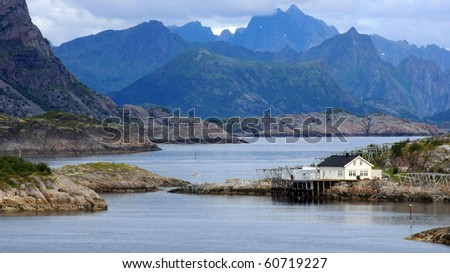 Henningsvaer the city in Lofoten islands