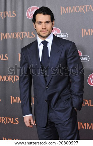 "Henry Cavill at the world premiere of his new movie ""Immortals"" at the Nokia Theatre L.A. Live in downtown Los Angeles. November 7, 2011  Los Angeles, CA Picture: Paul Smith / Featureflash"