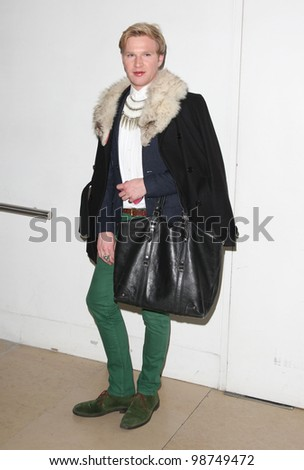 Henry Conway arriving for  Matthew Williamson A/W, at London Fashion Week. 19/02/2012 Picture by: Henry Harris / Featureflash