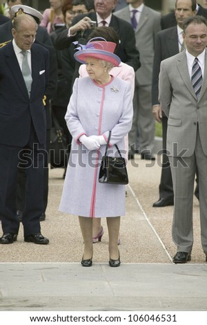 Her Majesty Queen Elizabeth II and the Duke of Edinburgh, Prince Philip and Virginia Governor Timothy M. Kaine arriving at the Virginia State Capitol, Richmond Virginia, May 3, 2007