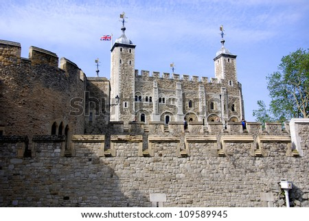 Her Majesty's Royal Palace and Fortress, more commonly known as the Tower of London, is a historic castle on the north bank of the River Thames in central London, England.