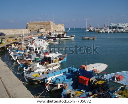 Heraklion Harbor with Fortress