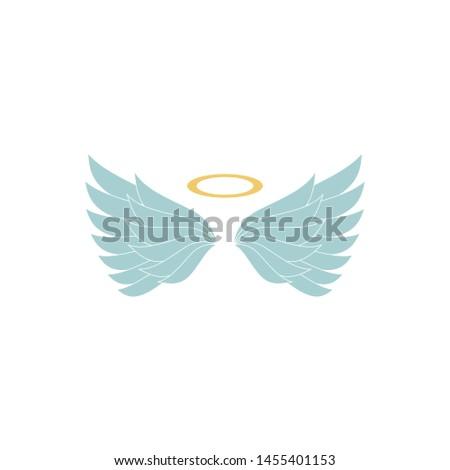 heraldic wings or angel wings. illustration