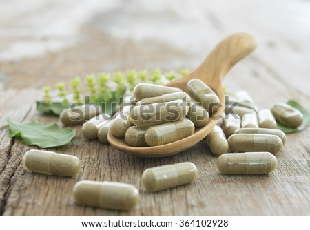 Herb capsule, Nutritional Supplement, Vitamin Pill, Herbal Medicine.