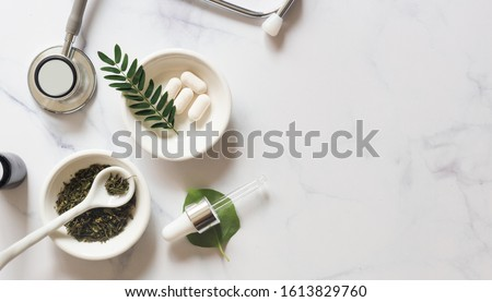 Herb medicine organic natural in the laboratory.marijuana.food nutrition healthy and wellness Stock photo ©