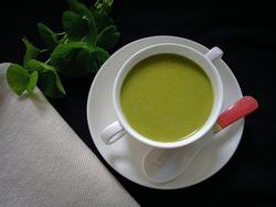Herbal green porridge . Sri Lankan nutritious and healthy breakfast food .