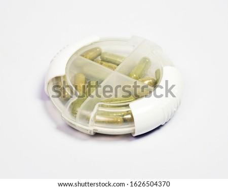 Herbal medicine in medicine box