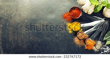 Shutterstock Herbs and spices selection, close up