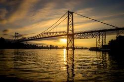 Hercílio Luz, bridge and traditional tourist point of Florianópolis.