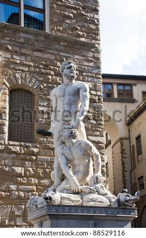 Hercules and Cacus by Baccio Bandinelli, Piazza della Signoria, Florence.