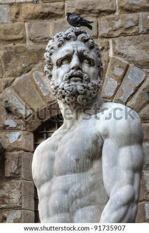 Hercules statue at the Piazza della Signoria, Florence, Italy (HDR version)