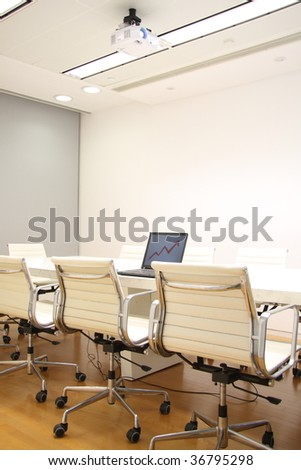 Here is one fashion company meeting room.