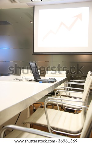 Here is one fashion company meeting room.