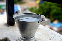 Here's a photo of a bucket of water.
