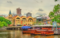 Heritage boats on the Singapore River, Singapore