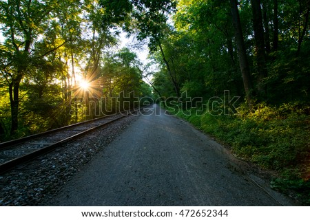 Heritage Rail Trail County Park York, Pennsylvania Stock fotó ©