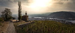 hermitage chapel rhone valley panorama