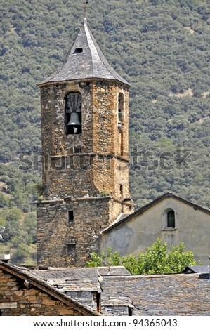 Hermitage, in a town of the Catalan Pirineo