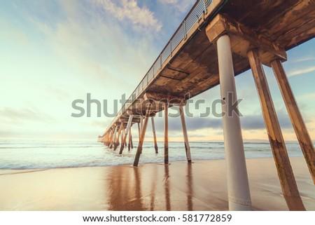 Hermosa Beach Pier #581772859