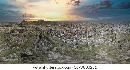 Hermosillo Sonora Cerro de la Campana Foto stock ©