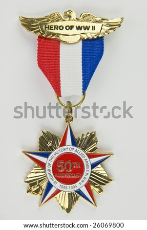 Hero of WWII - 50th anniversary of World War II medal
