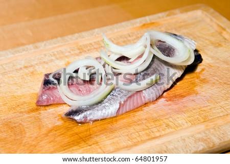 herring and onion