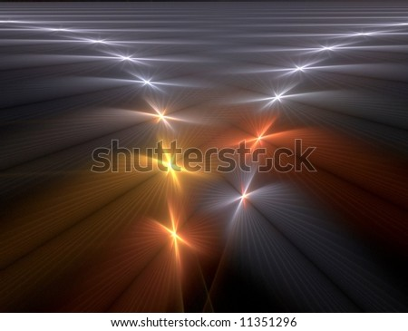 herringbone patterned background with spangles leading to a horizon