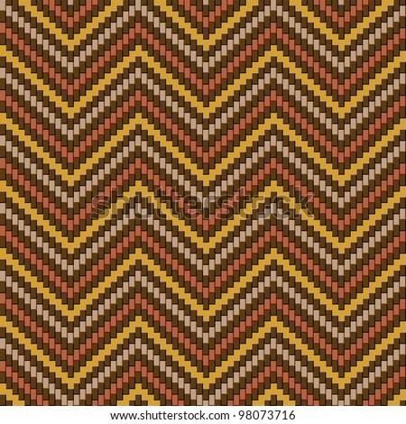 Herringbone Tweed pattern in earth tones repeats seamlessly. - stock photo