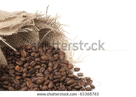 hessian and coffee beans