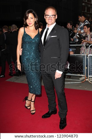 Heston Blumenthal and Suzanne Pirret  arriving for the 2012 GQ Men Of The Year Awards, Royal Opera House, London. 05/09/2012 Picture by: Alexandra Glen
