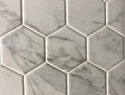Hexagon background. Hex Head Wall Tile