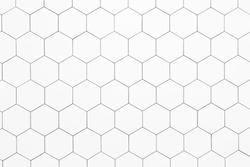 Hexagon ceramic tiles made for flooring, back splash or showers / bath tubs.