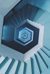 Hexagonal Blue coloured Downstairs infinity loop